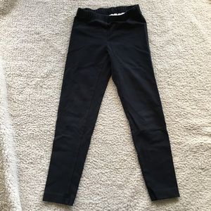 Girls 130 (sz 8), Hanna Andersson Black Leggings